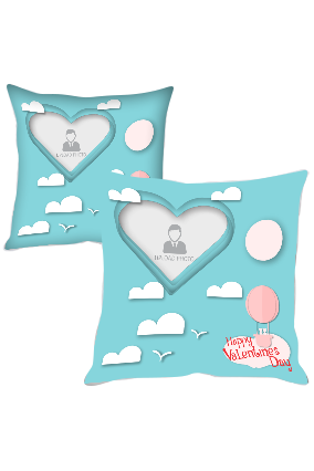 Clouds in Sky Personalized Printed Cushion Cover