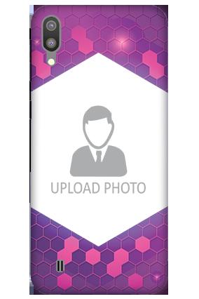 3D-Samsung Galaxy M10 Purple Hexagonal Customized Mobile Cover