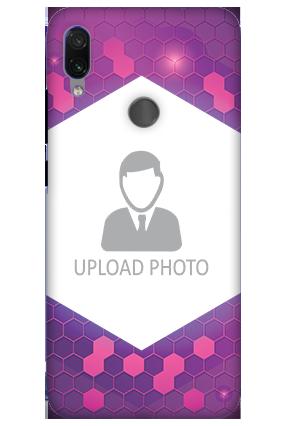 3D-Xiaomi Redmi Note 7 Pro Purple Hexagonal Customized Mobile Cover