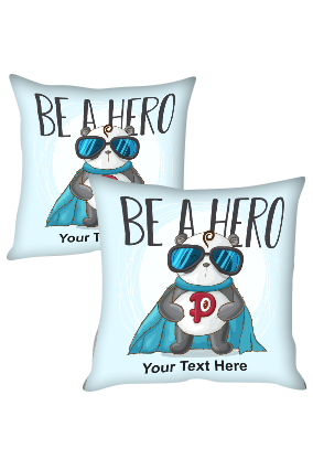 Adorable Panda Personalized Kids Cushion Cover