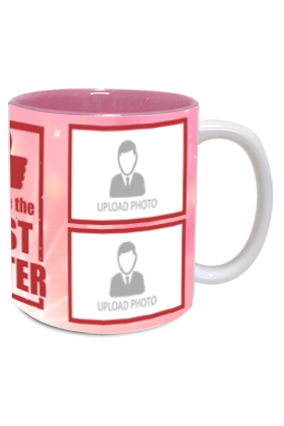 The Best Sister Customized Exclusive Inside Pink Mug