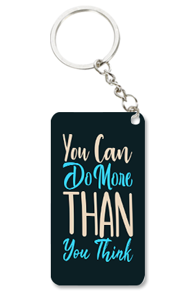 Do More Than You Think Small Rectangle Key Chain