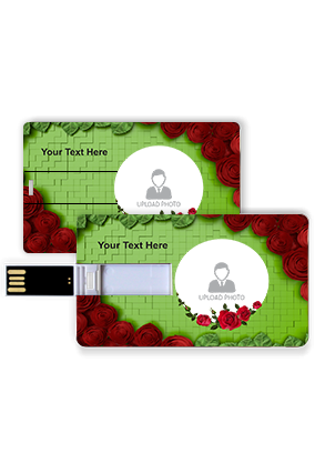 Roses on Carpet Customized Credit Card Pen Drive