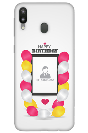 3D-Samsung Galaxy M20 Birthday Greetings Mobile Covers