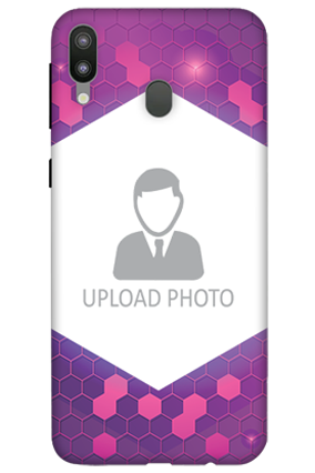 3D-Samsung Galaxy M20 Purple Hexagonal Customized Mobile Cover
