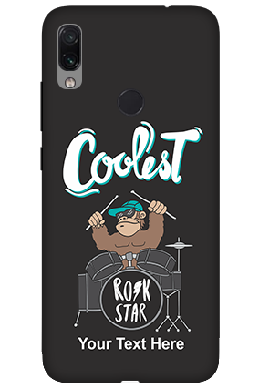 3D-Xiaomi Redmi Note 7 Coolest Rockstar Customized Mobile Cover