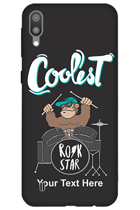3D-Samsung Galaxy M10 Coolest Rockstar Customized Mobile Cover