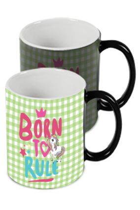 Born to Rule Personalized Kids Designer Black Magic Mug