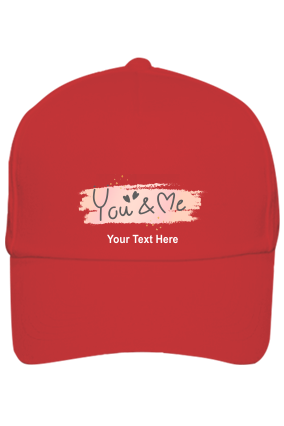 You & Me Customised Cotton Red Cap
