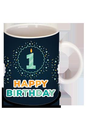 Candle & Birthday Bone China Mug