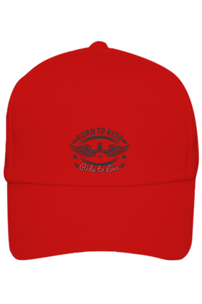 Born To Ride Cotton Red Cap
