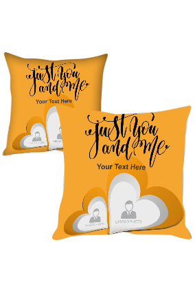 Just You and Me Customized Printed Cushion Cover