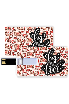 Big love Trendy Valentine Credit Card Pen Drive