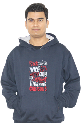 Saturday Morning Cartoons Full Sleeves Hoodie