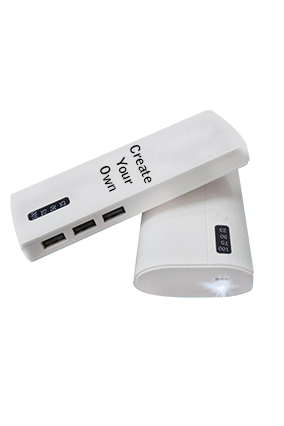 Design Your Own 11000mAh Power Bank White