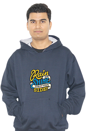 I Am On Your Side Full Sleeves Hoodie