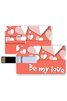 Be My Love Valentine Credit Card Pen Drive