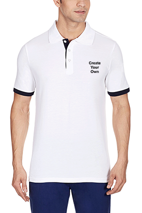 Amazing Create Your Own White Cotton Polo T-Shirt - 57115903