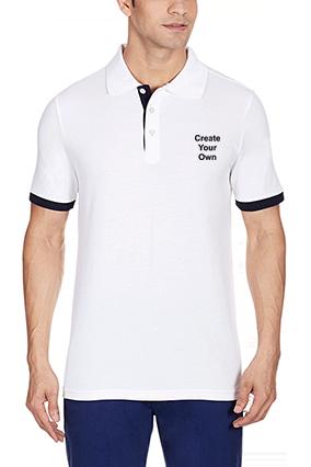 Amazing Create Your Own White Cotton Polo T-Shirt - 57115903