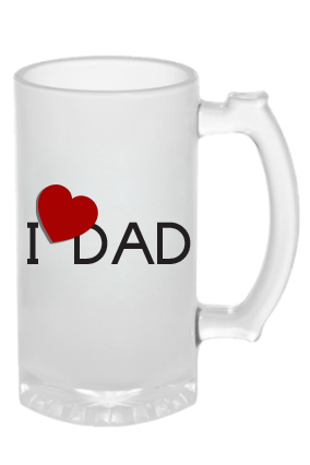 I Love Dad Beer Mug