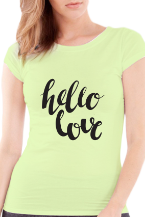 Be with Me Valentine Day Girls Green T-Shirt