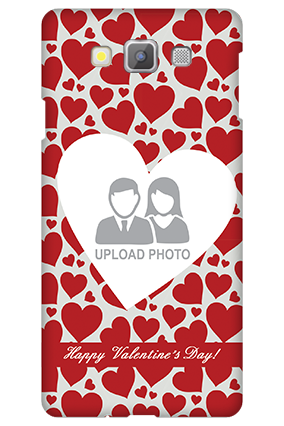 Samsung galaxy A7 Heart Pattern Valentine's Day Mobile Cover