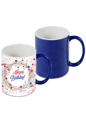 Greetings Blue Magic Mug