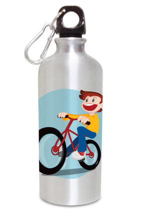 Cycling 600ml Silver Sipper