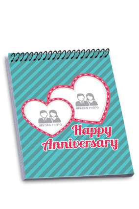 Personalized Anniversary Greetings Top Spiral Notebook
