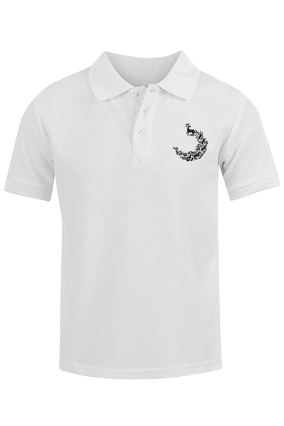 Amazing Pecock White Cotton Polo T-Shirt