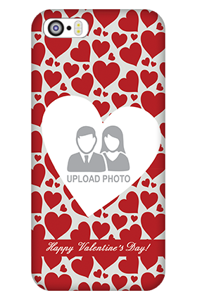 iPhone 5 Heart Pattern Valentine's Day Mobile Cover