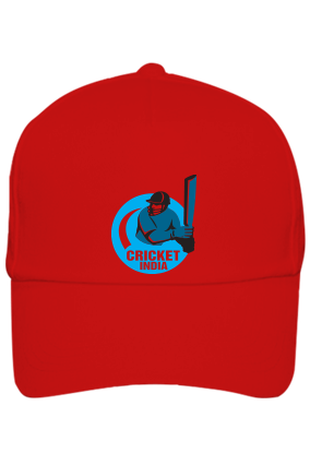 Cricket India Red Cap with Name