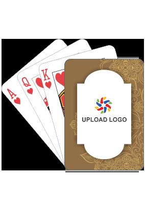 Designer Subtle Brown Playing Cards