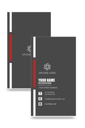 Black Colored Vertical Business Card