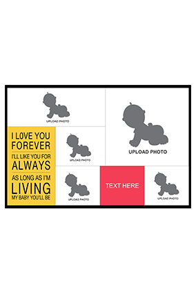 I Love You Forever Baby Landscape Collage