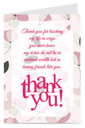 Designer Thoughtful Thank You Card