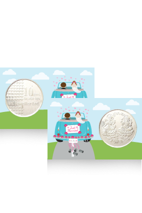 Printed Romantic Drive Silver Coin