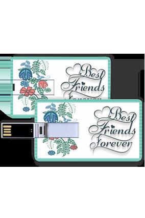 Best Friends Credit Card Pen Drive
