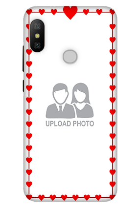 Personalised 3D-Xiaomi Mi A2 Heart Valentine's Day Mobile Cover