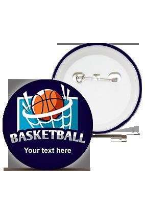 Designer Basketball Love Round Shape Badges