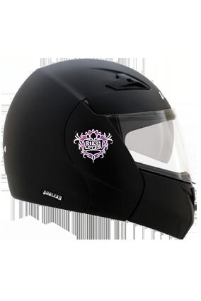 Designer Bike Lover Vega Boolean Dull Black Helmet