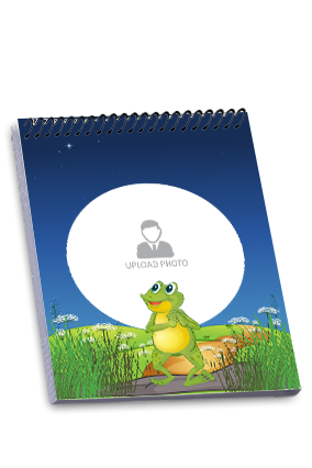 Cute Frog Customized Top Spiral Notepad