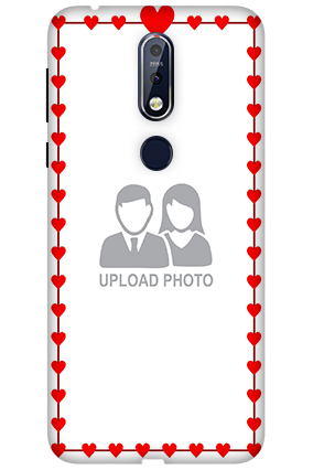 3D Nokia 7.1 Heart Valentine's Day Mobile Covers