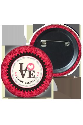 Designer Love Round Badge