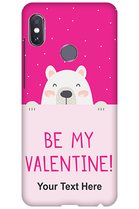 3D-Xiaomi Redmi Note 5 Pro Be My Valentine Customized Mobile Cover