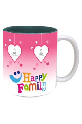 We are Happy Family Exclusive Inside Green Mug