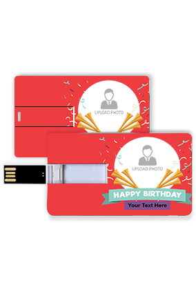 Birthday Celebration Personalized Birthday Credit Card Pen Drive