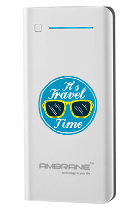It is Travel Time Customized 20800mAh Ambrane Power Bank White