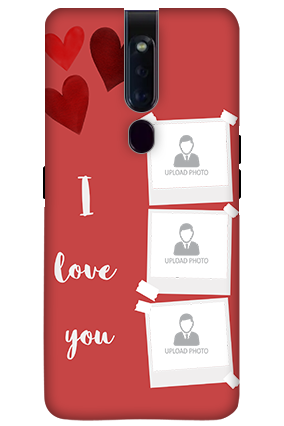 3D-OPPO F11 Pro Beautiful Hearts Customized Mobile Cover