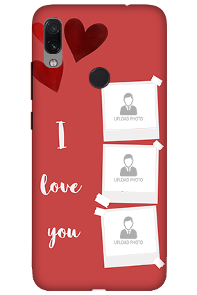 3D-Xiaomi Redmi Note 7 Beautiful Hearts Customized Mobile Cover
